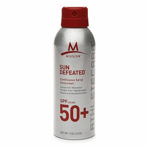 MISSION Athletecare Sun Defeated Continuous Spray Sunscreen SPF50+