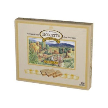 Dolcetto Wafer Squares, Vanilla, 8.5-Ounce (Pack of 6)
