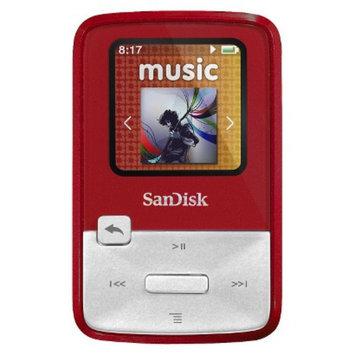SanDisk Sansa Clip Zip 4GB MP3 Player - Red (SDMX22-004G-A57R)