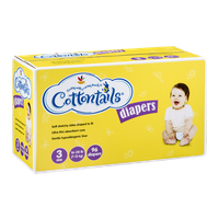 Ahold Cottontails Diapers 3 Size (16-28 lb) - 96 CT