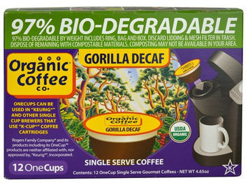 Organic Coffee Co. ORGANIC COFFEE Decaf One Cups Coffee - Gorilla - 4.65 oz