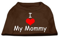 Ahi I Love My Mommy Screen Print Shirts Brown XXXL (20)