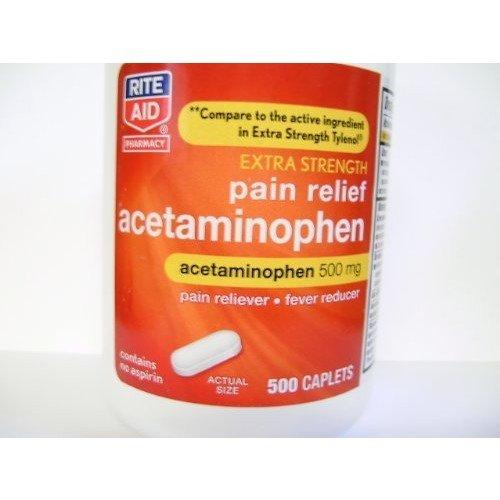 Rite Aid Extra Strength Acetaminophen 500mg. 500 Caplets