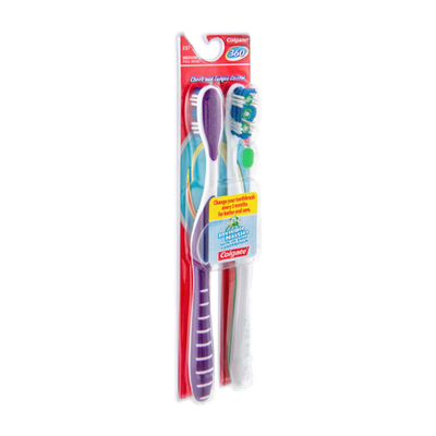 Colgate 360 Full Head Medium Toothbrush - 2 CT
