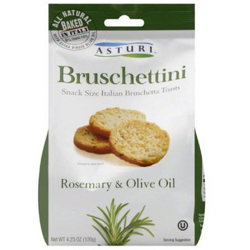 Asturi Bruschettini Rosemary & Olive Oil Toasts, 4.23 oz, (Pack of 12)