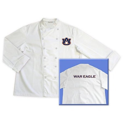 Champion Treasures Auburn University Screen Printed Chef Coat White XL