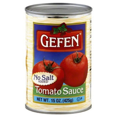 Gefen Tomato Sauce, No Salt, 15-ounces (Pack of 24)