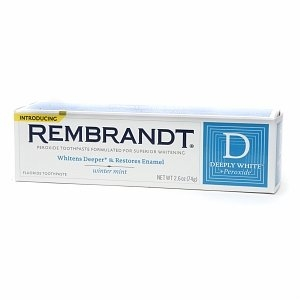 Rembrandt Plus Deeply White + Peroxide Whitening Toothpaste with Fluoride