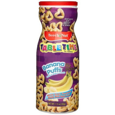 Beech-Nut Table Time for Toddlers, Banana Puffs, 1.5-Ounce Containers (Pack of 6)