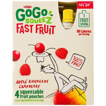 GoGo SQUEEZ FAST FRUIT APPLE RASPBERRY CRANBERRY FRUIT POUCHES