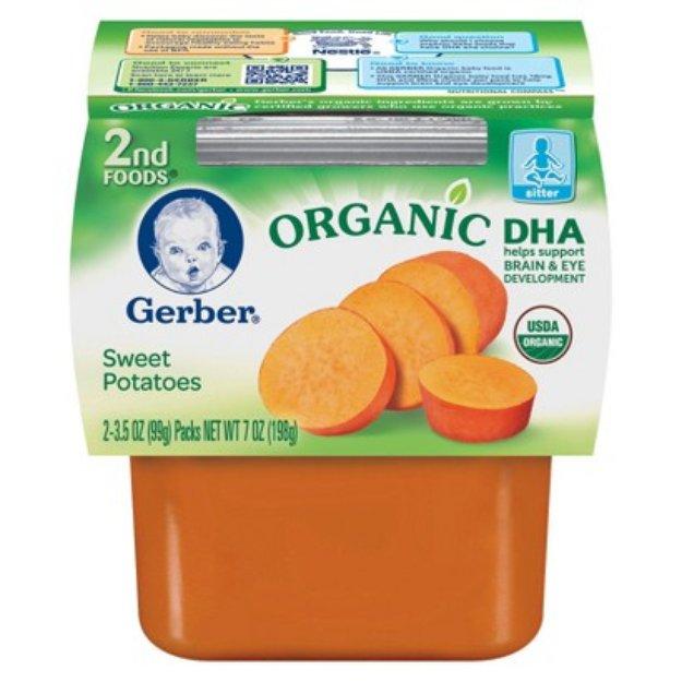 GERBER ORGANIC Gerber Organic 2nd Foods - Sweet Potatoes 7 oz (8 Pack)