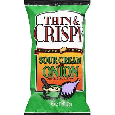 Snack Alliance Thin & Crispy Sour Cream & Onion Flavor Potato Chips, 5 oz
