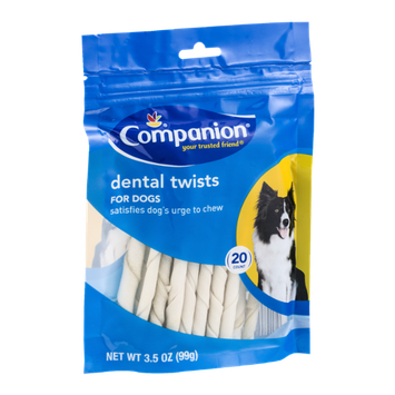 Companion Dental Twists For Dogs - 20 CT