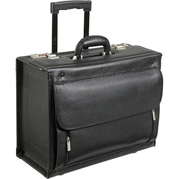 AmeriLeather Leather Wheeled Laptop Catalog Case
