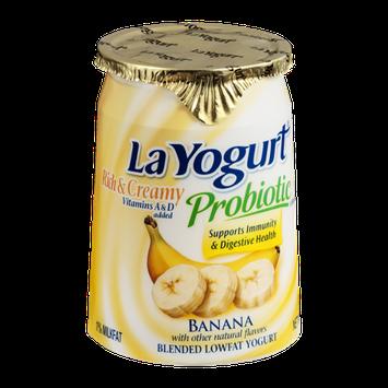 La Yogurt Probiotic Rich & Creamy Low Fat Yogurt Banana