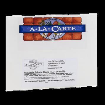 A La Carte Gourmet Cuisine Ratatouille Polenta Stacks Gluten Free