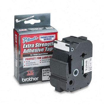 Brother International TZES261 Tz Extra-strength Adhesive Laminated Labeling Tape 1-1/2w Black On White