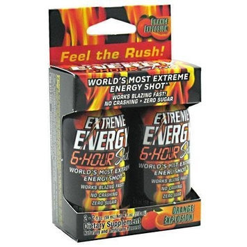 Iovate Extreme Energy 6-hour Shot Orange Explosion 12-Count