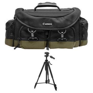 Canon 1EG Digital SLR Camera Case Gadget Bag + Tripod for EOS 6D, 70D, 5D Mark II III, Rebel T3, T3i, T4i, T5, T5i, SL1