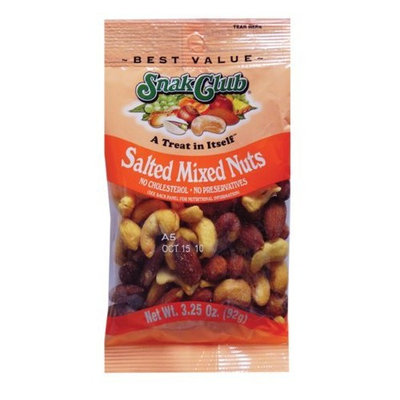 Snak Club Mixed Nuts, Deluxe, 3.25 Ounce (Pack of 6)