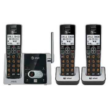 AT&T DECT 6.0 Cordless Phone System (CL82313) with 3 Handsets - Gray