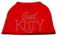 Mirage Pet Products 5208 MDRD Bad Kitty Rhinestud Shirt Red M 12