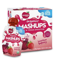 Revolution Foods Organic Mashups Fruit & Veggie Smoothie, Beetbox Berry, 3.17 Oz, 4-Count Mashups (Pack of 4)