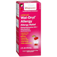 Walgreens Wal-Dryl Children's Allergy Oral Solution Dye-Free