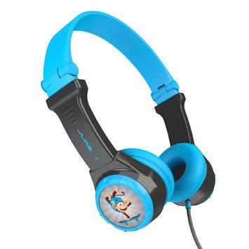 David Shaw Silverware Na Ltd JBuddies Folding Kids' Headphones - Grey/Blue