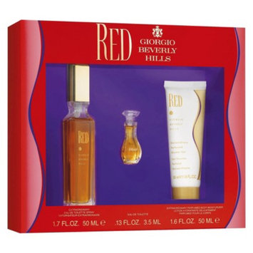Women's Red by Giorgio Beverly Hills Fragrance Gift Set - 3 pc