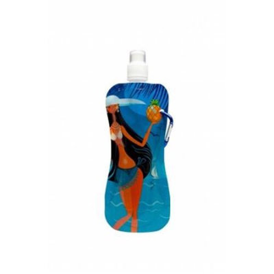Talus Corp. Talus Corp ST-ON9013-PG7 Foldable Water Bottle - Hula Girl Red