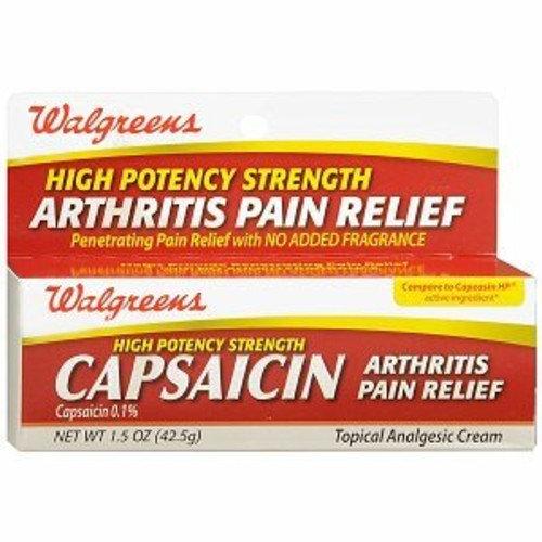 Walgreens Capsaicin 0 1% Cream, 1 5 oz Reviews 2019