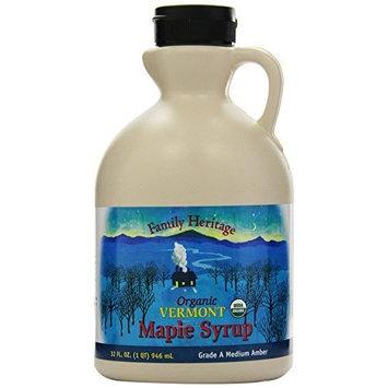 Butternut Mountain Farm Pure Maple Syrup, Organic Grade A Medium Amber, 1-Quart Jug