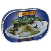 ALSTERTOR Herring Fish Fillet in Dill Herb Sauce 7 Oz(Pack of 10)