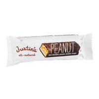 Justin's Peanut Dark Chocolate, Peanuts, Caramel, Nougat Bar