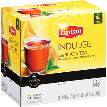 Lipton K-Cup Indulge Flavored Black Tea 18 ct