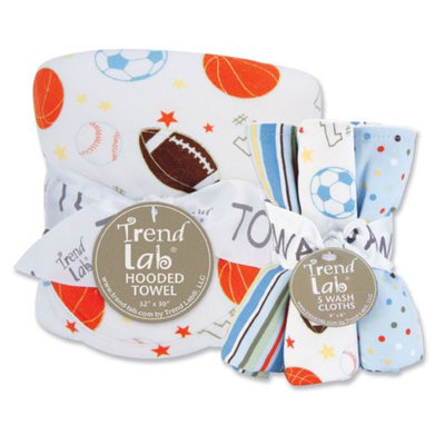 Trend Lab Little MVP Hooded Towel and Wash Cloth Set Kid's