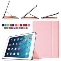 Fintie Smart Book Cover Case Ultra Slim Light Weight Stand Supports Three Viewing Angles for Apple iPad Air, Pink