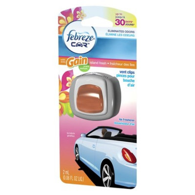 P&G Febreze Car Gain Island Fresh Scent Air Freshener Vent Clip