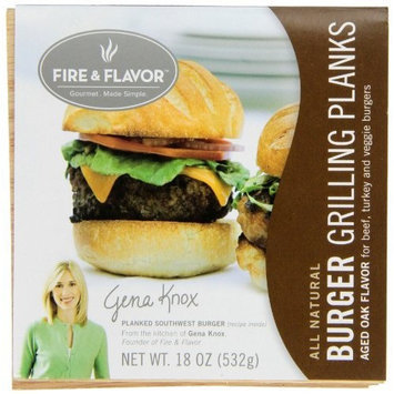 Fire & Flavor Burger Grilling Planks, 4 Count Package