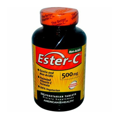 American Health Ester-C 500 mg 225 Vegetarian Tablets