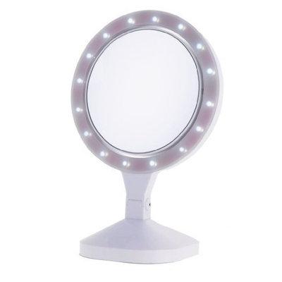 Danielle Enterprises Ultra Led Beauty Vanity Mirror 10x, White, 8 Inches X 15.75 High