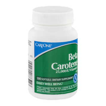 CareOne Beta Carotene 25,000 IU Vitamin A Softgels - 100 CT