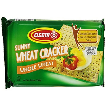 Osem Sunny Wheat Cracker Whole Wheat, 8.8-Ounce Packages (Pack of 12)