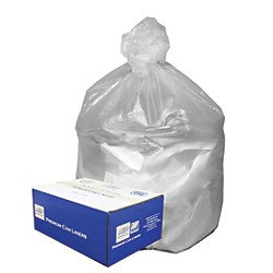 Good 'n Tuff GNT4348 Waste Can Liners- 56 gal- 14 mic- 43 x 46- Natural- 200/Carton