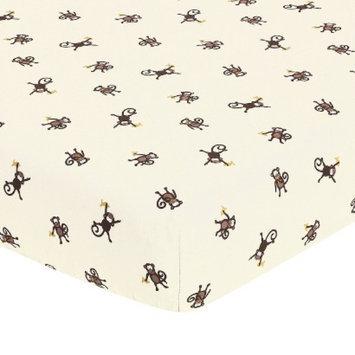 Jo Jo Designs Monkey Fitted Crib Sheet - Print