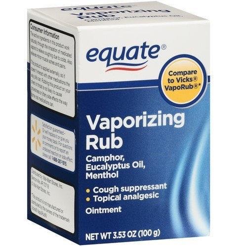 Equate - Vaporizing Rub, 3 53 oz (Compare to Vicks VapoRub) Reviews 2019