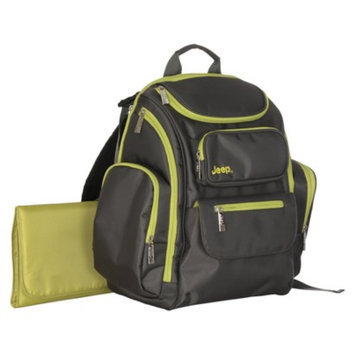 Organizer Easy Access Back Pack Diaper Bag - Grey/Green by Jeep