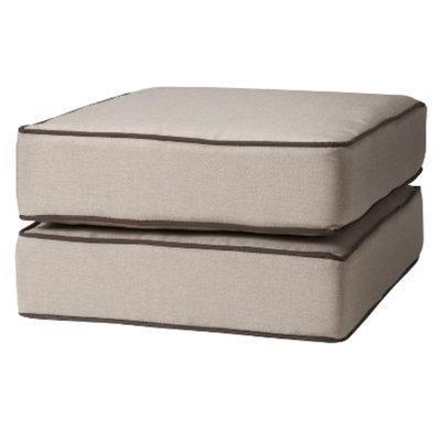 Grand Basket Rolston 2-Piece Outdoor Ottoman Replacement Cushion Set-