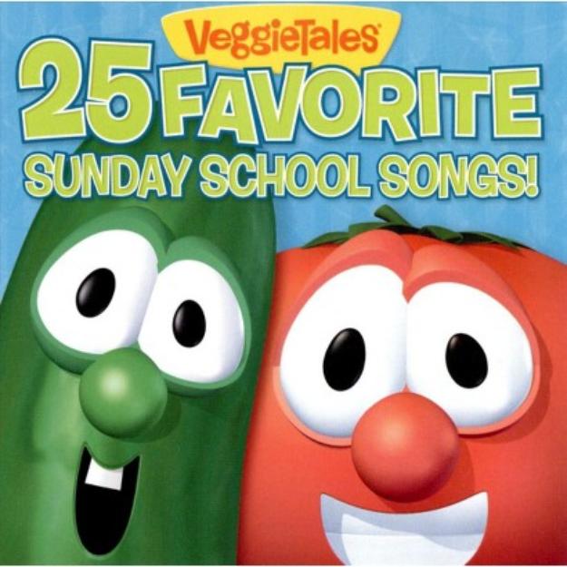 VeggieTales ~ 25 Favorite Sunday School Songs (new)
